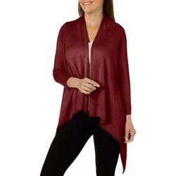 Nue Options Womens Key Items Cozy Mesh Cardigan