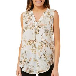 Nue Options Womens Vintage Floral Sleeveless Top