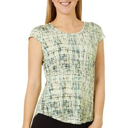 Nue Options Womens Day to Night Graphic Dot Print Top