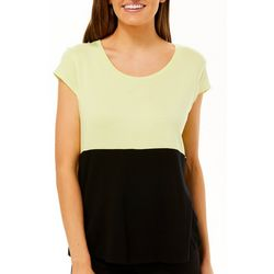 Nue Options Womens Day to Night Colorblock Cap Sleeve Top