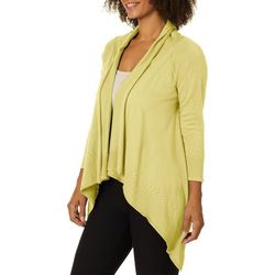 Nue Options Womens Solid Knit Waterfall Cardigan