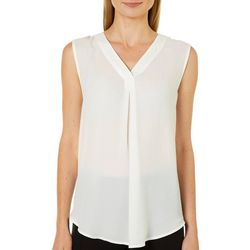 Emaline Womens Solid Sleeveless Top