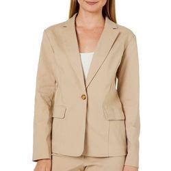 Emaline Womens Solid Blazer