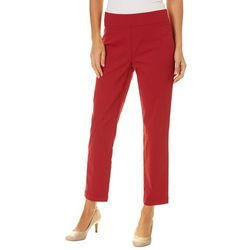 Nue Options Womens Berlin Solid Pull On Ankle Pants