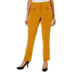 Nue Options Womens Munich Solid Zip Pocket Pants