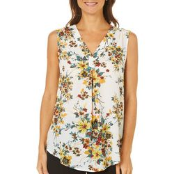 Nue Options Womens Munich Floral Print Sleeveless Top