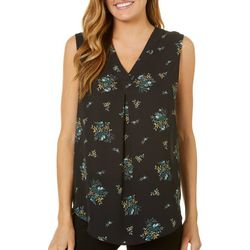 Nue Options Womens Garden Print Sleeveless Top