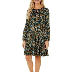 Nue Options Womens Munich Garden Print Keyhole Dress