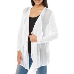 Nue Options Womens Essentials Cozy Mesh Cardigan