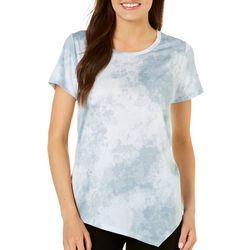 Nue Options Womens Asymmetrical Hem Tie Dye Top