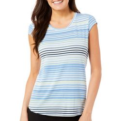 Nue Options Womens Multicolored Striped Top
