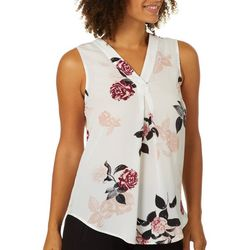 Nue Options Womens Frankfurt Rose Print Sleeveless Top
