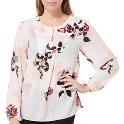 Nue Options Womens Frankfurt Blooming Floral Long Sleeve Top