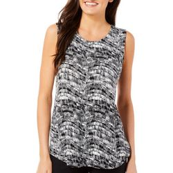 Nue Options Womens Key Items Striped Scratch Print Top