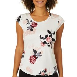Nue Options Womens Rose Garden Cap Sleeve Top