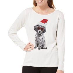 Nue Options Womens Dresden Christmas Puppy Sweater