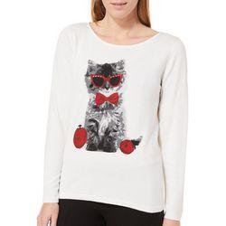 Nue Options Womens Dresden Christmas Kitten Sweater