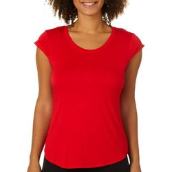 Nue Options Womens Cap Sleeve Solid Top