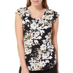 Nue Options Womens Lily Garden Cap Sleeve Top