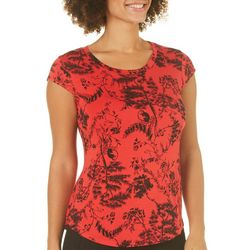 Nue Options Womens Simian Garden Cap Sleeve Top
