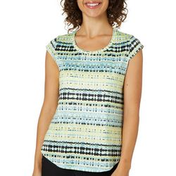 Nue Options Womens Abstract Stripe Day To Night Top