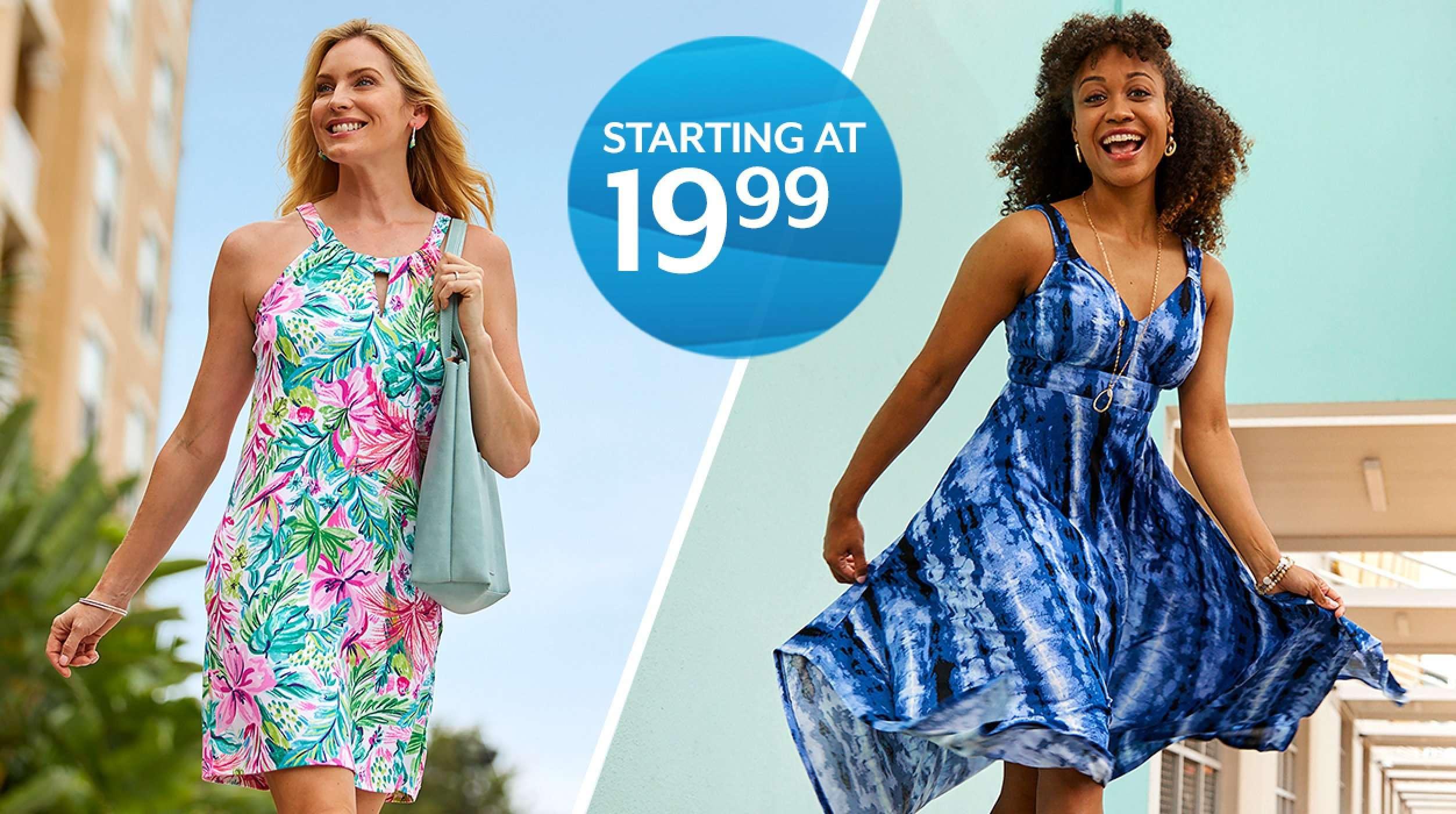 starting at 19.99 dresses for women