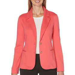 Rafaella Womens Solid Long Sleeve Jacket