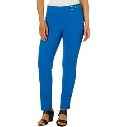 Rafaella Womens Solid Super Stretch Ankle Pants
