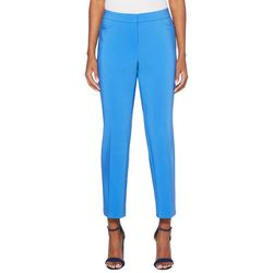 Rafaella Womens Solid Satin Twill Pants