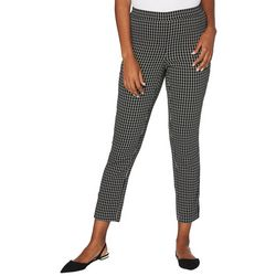 Rafaella Womens Grid Print Pull On Pants
