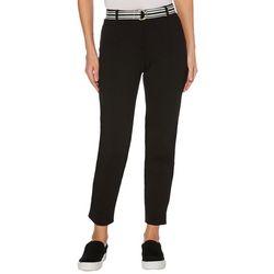 Rafaella Womens Belted Skinny Fit Pants