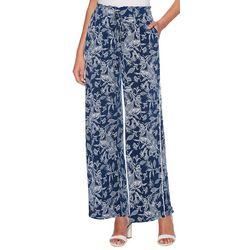 Rafaella Womens Floral Drawstring Pull-On Pants