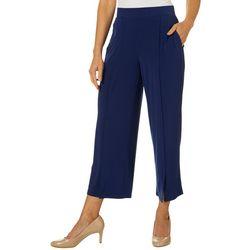 Rafaella Womens Solid Pull-On Crop Pants