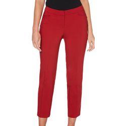 Rafaella Womens Solid Curvy Fit Pants