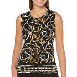 Rafaella Womens Chain Inspired Print Tank Top
