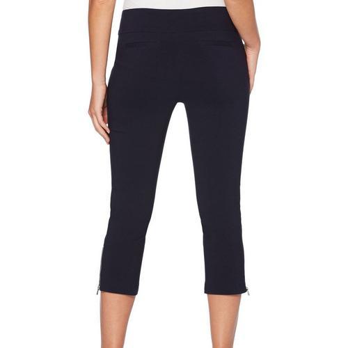 ed7919f49c09 Rafaella Womens Supreme Stretch Zip Hem Ankle Pants