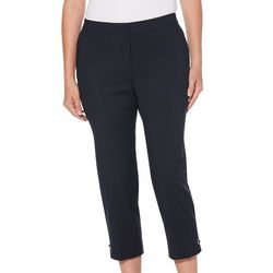 Rafaella Womens Supreme Stretch Zip Pocket Ankle Pants