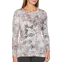 Rafaella Womens Embellished Spotted Top