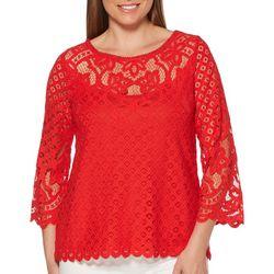 Rafaella Womens Abbey Lace Top