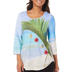 SunBay Womens Tropical Christmas Tree Top