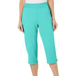 SunBay Womens Pull On Solid Capris