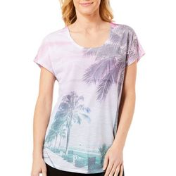 SunBay Womens Tropical Beach Scene T-Shirt