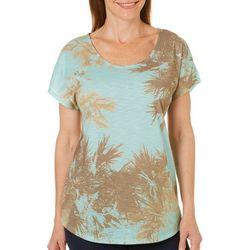 SunBay Womens Placed Palms Dolman Top