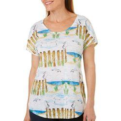 SunBay Womens Seagull Beach Dolman Top