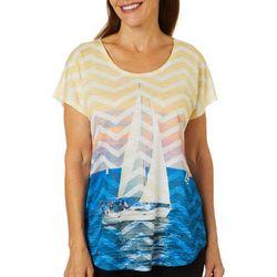 SunBay Womens Sailboat Dolman Sleeve Top