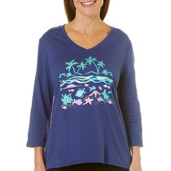 SunBay Womens Under The Sea Top
