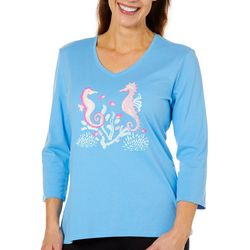 SunBay Womens Seahorse Friends Top