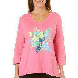SunBay Womens Tropical Toucan Top