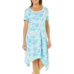 SunBay Womens Coastal Handkerchief Hem Sundress