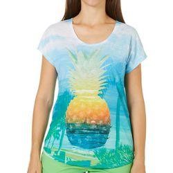 SunBay Womens Pineapple Beach Top